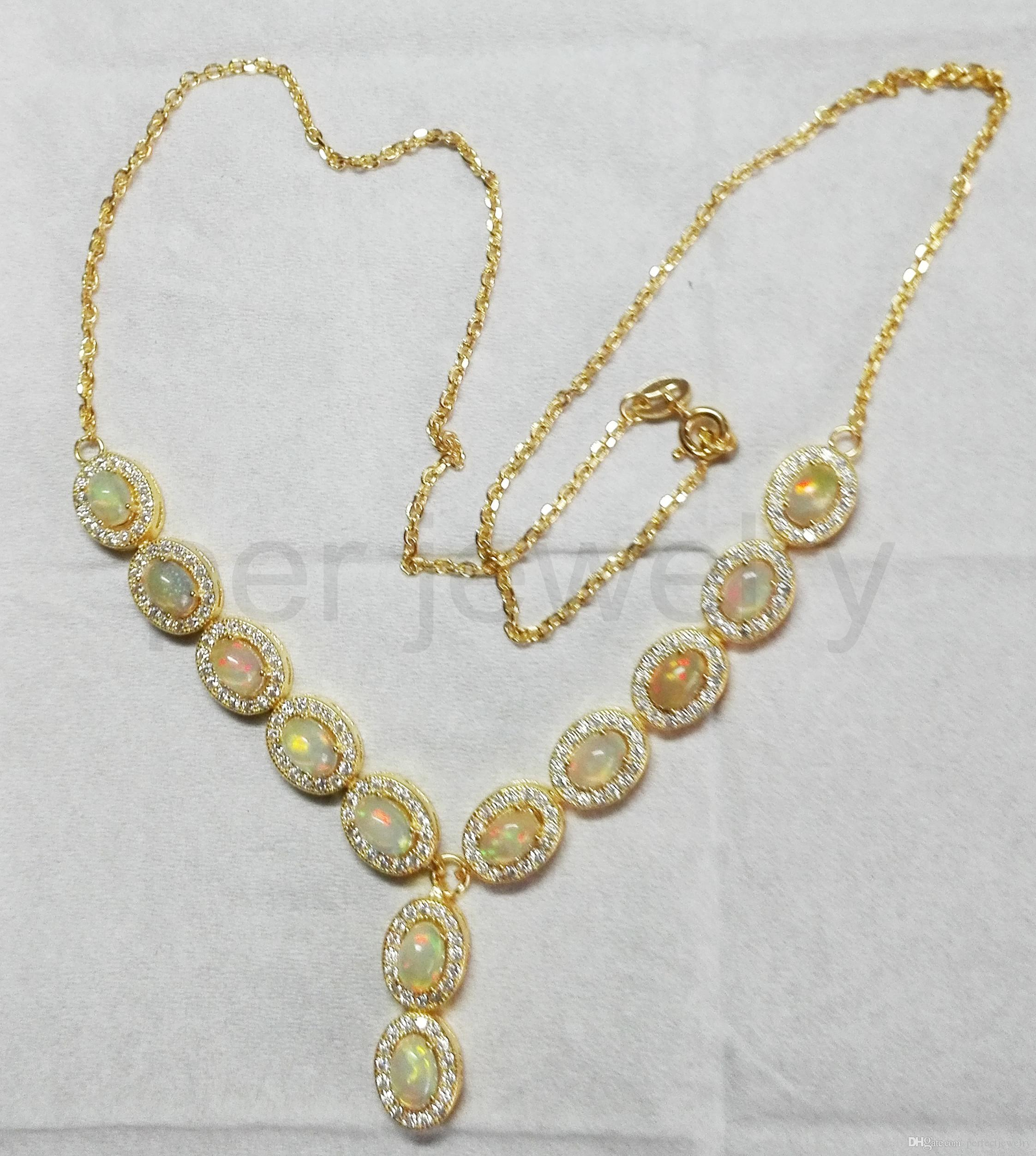 necklace z opal necklaces pendant v jewelry id vintage real chain d hollycraft at org