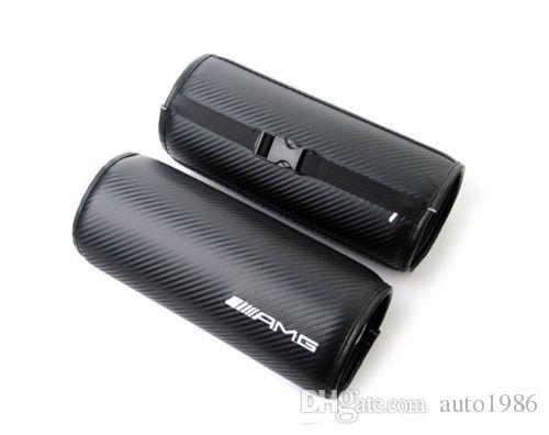 AMG performance puissance sport auto camion noir course en fibre de carbone circulaire voiture siège cou cou coussin oreiller appui-tête pour AMG