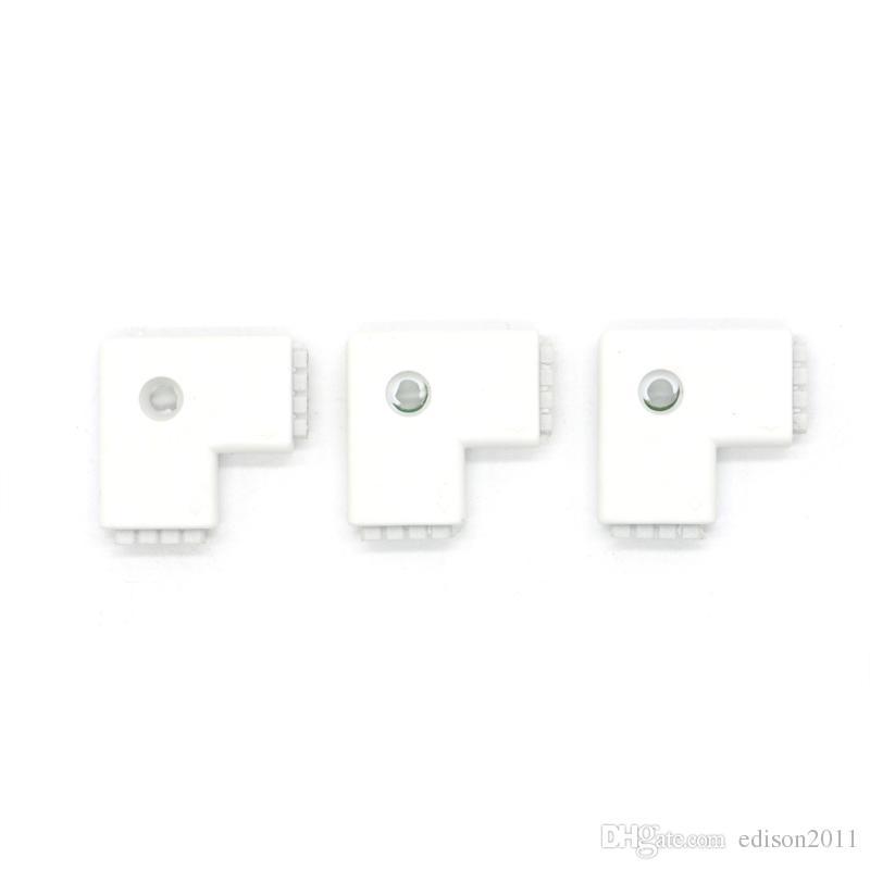 LED Şerit Işık Konnektör Adaptörü Kablo Klipsi Lehimsiz PCB 3528 5050 5630 RGB Ücretsiz Kargo için kullanın