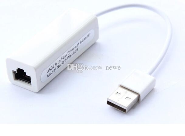 YENI USB RJ45 USB 2.0 Yüksek Hızlı Ethernet Ağ LAN Adaptörü Kartı 10/100 Adaptörü PC \ windows7 Laptop LAN adaptörü