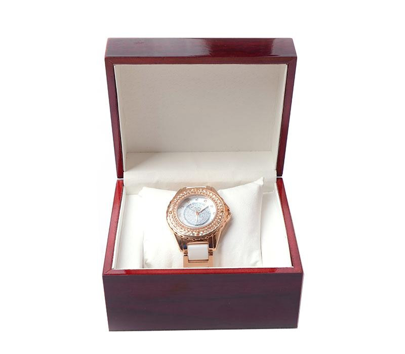 luxury brown Fashion wood watch box with pillow package case wristwatches boxes