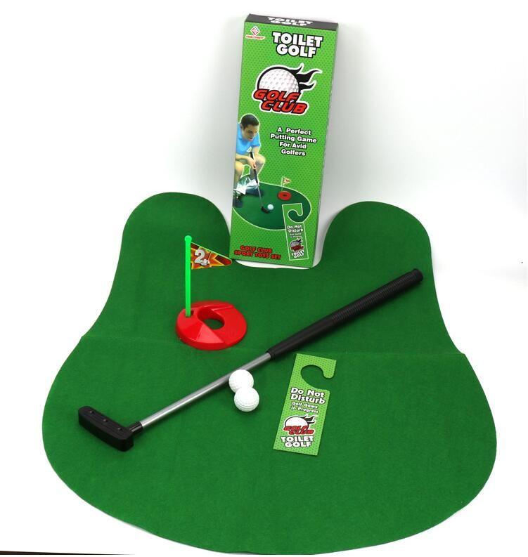 Golf Wc Mat.Mini Bad Wc Golf Mat Balls Set Ein Perfektes Putting Spiel Fur Begeisterte Golfer Potty Putter Golf Trainer Fun Game