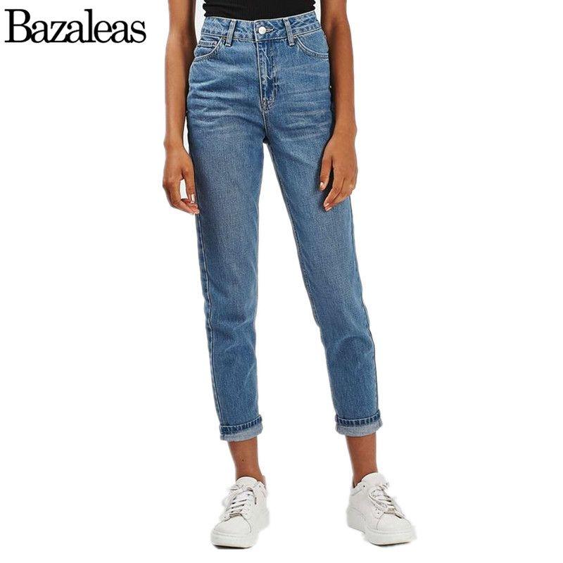 870f52734f7 2019 Wholesale 2017 Summer Style Bazaleas Cowboy Pants Jeans Vintage High  Waist Jeans Boyfriend Jeans Straight Trousers From Baica