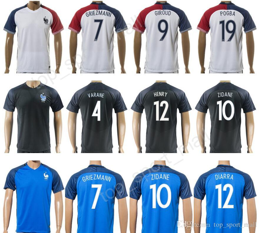 ... nike france womens away jersey 2018 Soccer France Jersey 2017 Football Shirt  French Personalized 12 Thierry Henry 7 Franck Ribery 10 . ... c056838ba