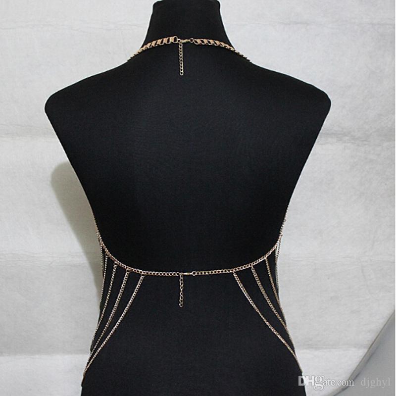 Mode Bijoux Présent Plage Sexy Maille En Alliage Exagéré Chaînes Du Corps Gland Long Cintura Déclaration Chaînes Femmes Parti Cadeaux Livraison Gratuite