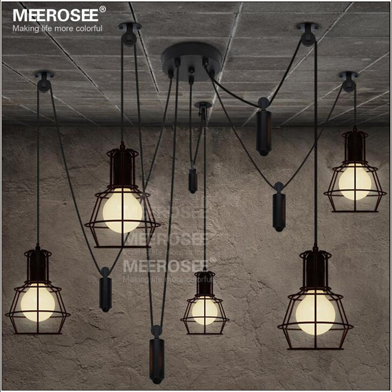 the best attitude 09e19 2e244 American style Black Pendant Light Fixture Creative suspension light  Contemporary decorative hanging lamp for Cafe MD2825 lustre