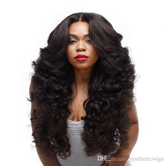 Woodfestival Kinky Curly Wig Wig Black Wigy Wigs Sintéticas Mulheres Cabelo Natural Fibra Longa Cosplay Resistente ao Calor