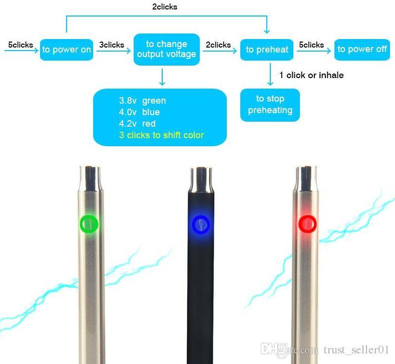 Горячий подогрев 350 мАч предварительного нагрева батареи против сенсорного vape O pen переменное напряжение предварительного нагрева батареи против CE3 испаритель vape pen starter kit DHL