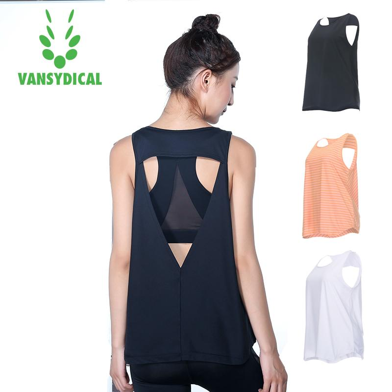 a25255c45f920 Brand Sleeveless Sports Vest Women Yoga T-Shirt Quick Drying Gym ...