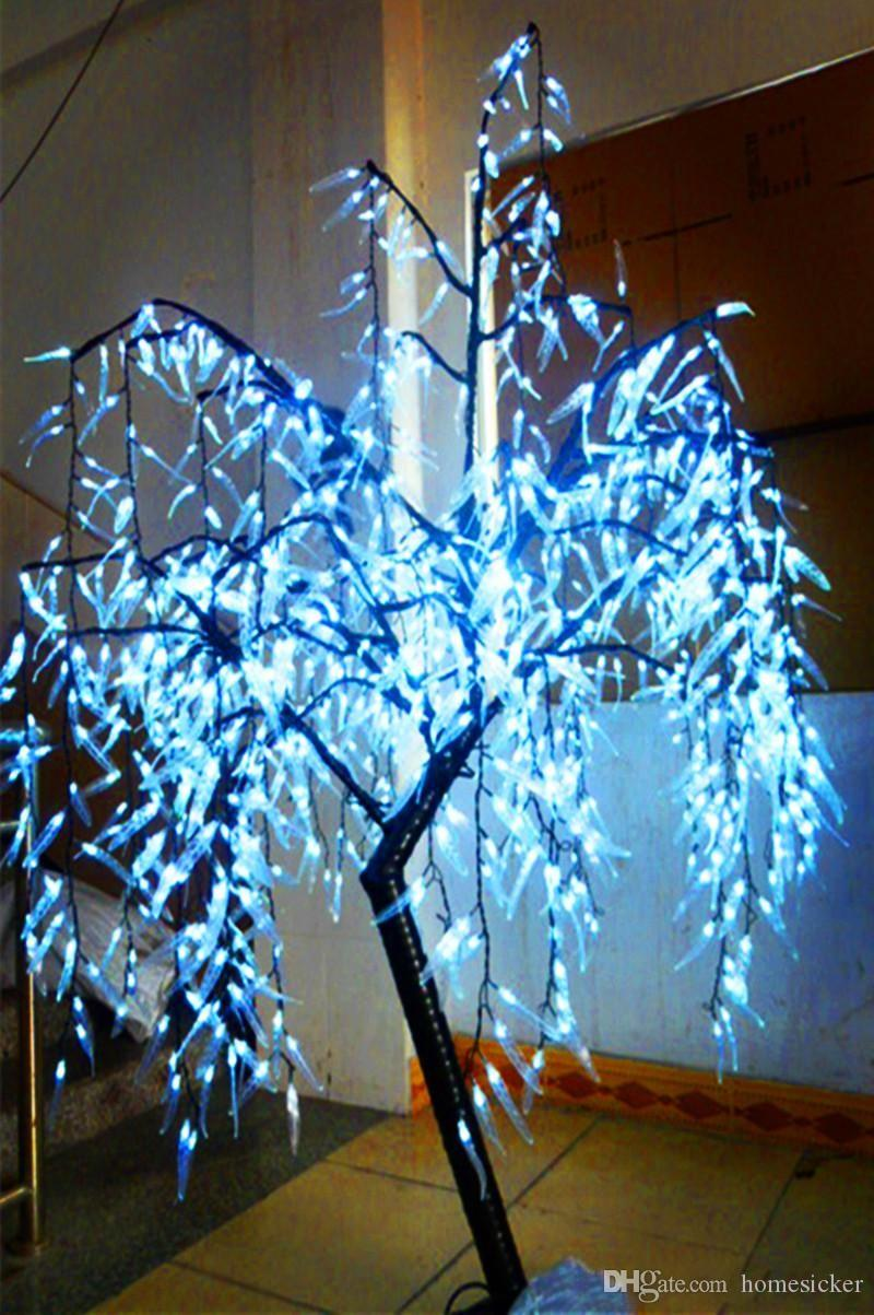 LED Artificial Willow Weeping Tree Light Outdoor Use LEDs 1.8 m / 6ft Height Rain Define Christmas Decoration Tree White