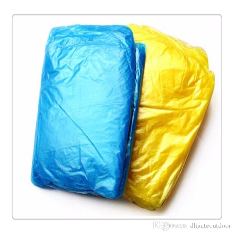 2017 Nouveau Équipement de Voyage Adulte D'urgence Urgence Jetable Imperméable En Plein Air Randonnée Camping PE Manteau De Pluie Transparent Poncho Cadeau