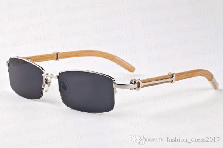 High quality buffalo horn glasses for men original wood sunglasses rectangular clear lens full frame semi-rimless come with glasses box