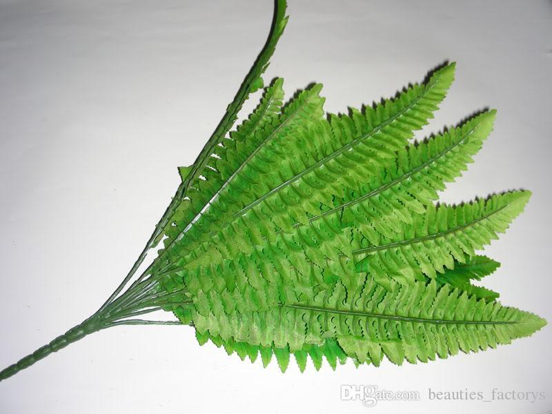 32cm SILK 16 LEAVES ARTIFICIAL BOSTON FERN BUSH BUNDLE PLANT ARRANGEMENT HOME DECORATION /