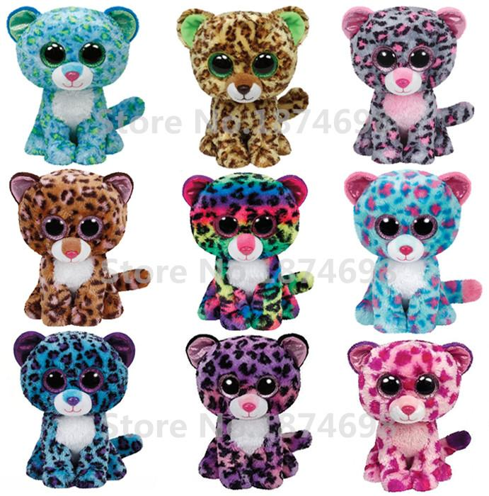 57d9abbb23f Geliefde Wholesale- New TY Beanie Boos Plush Leopard Collection 6   15cm Ty
