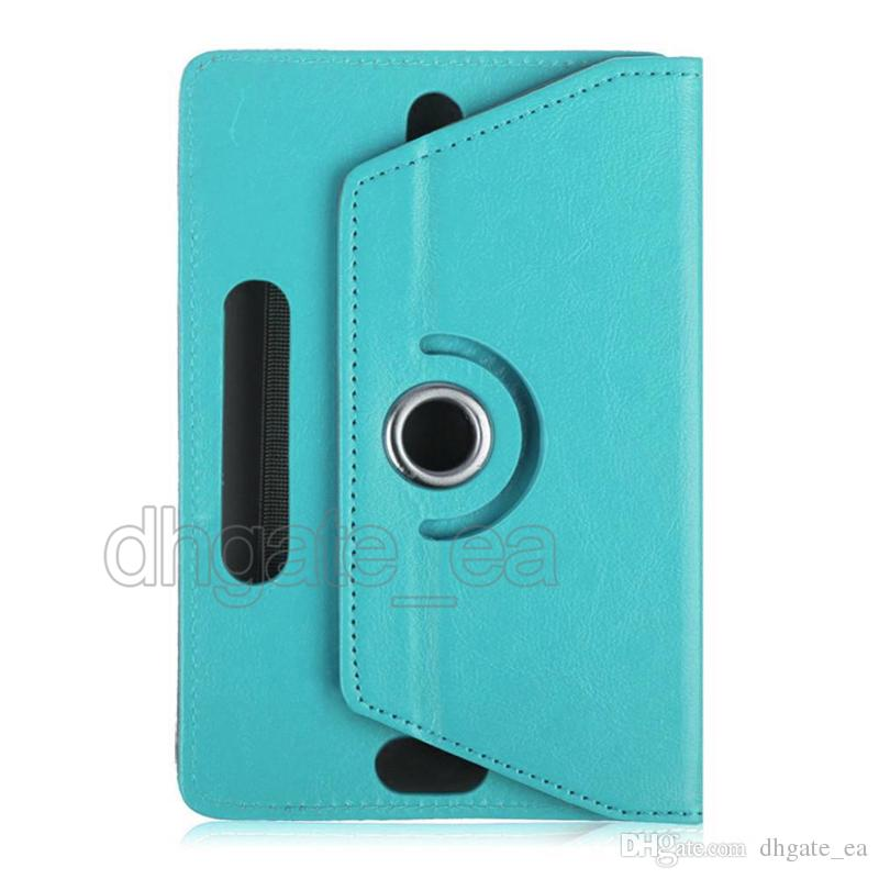 360 Degree Rotating Tablet Case PU Leather case Stand Cover 7 8 9 inch Fold Flip Covers Built-in Card Buckle for Mini iPad