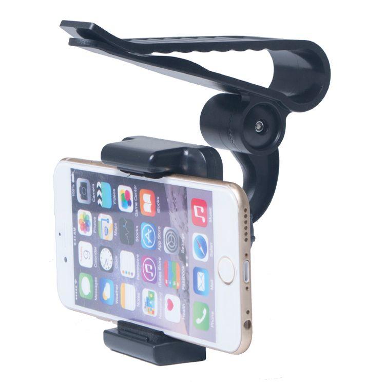 Universal Car Sun Visor Phone Mount Holder Stand For Samsung For iPhone Mobile Phone GPS PDA MP4 Camera Digital DVR 360 Rotating