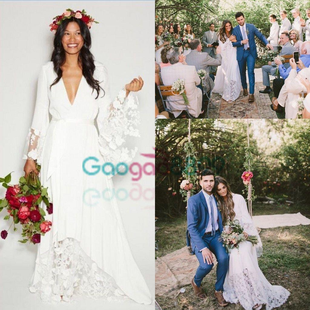 Discount 2017 Summer Beach Boho Country Wedding Dresses Bohemian ...