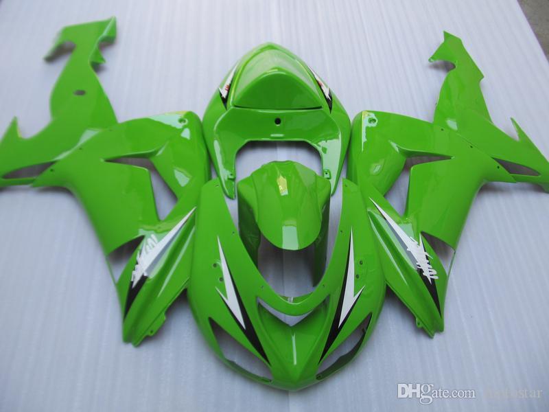 Kawasaki Ninja ZX10R 2006 2007 yeşil grenaj için enjeksiyon kalıp yüksek kaliteli kaporta kiti ZX10R 06 07 OT