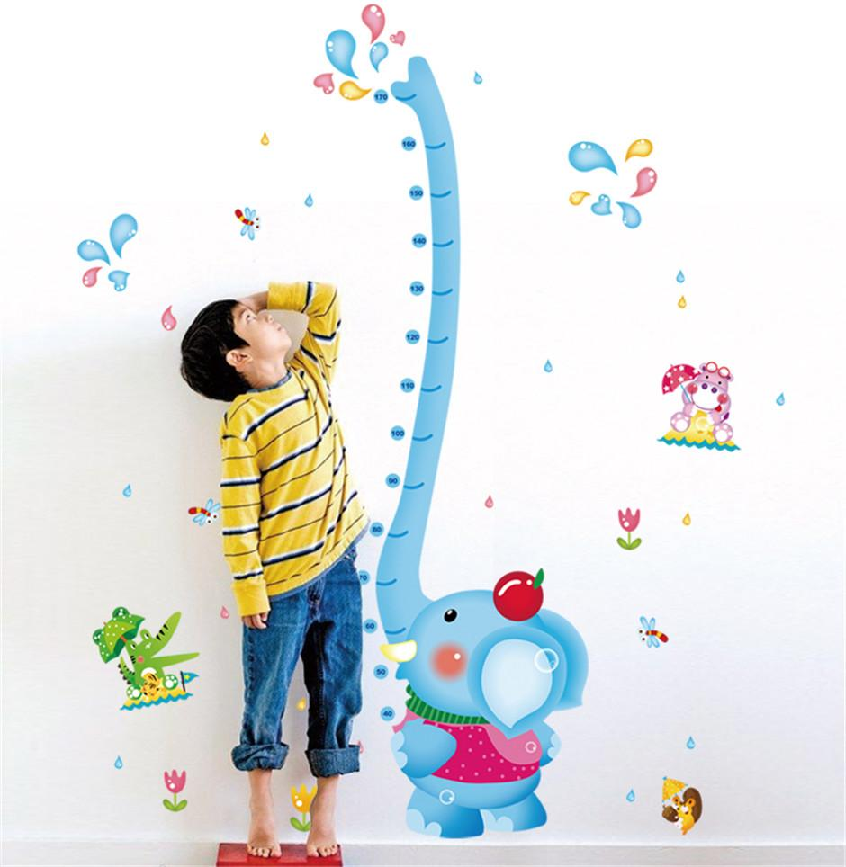 Eco removable cute elephant height chart wall stickers for kids eco removable cute elephant height chart wall stickers for kids room bedroom living room home decorative wall stickers mural art poster wall art words wall amipublicfo Gallery