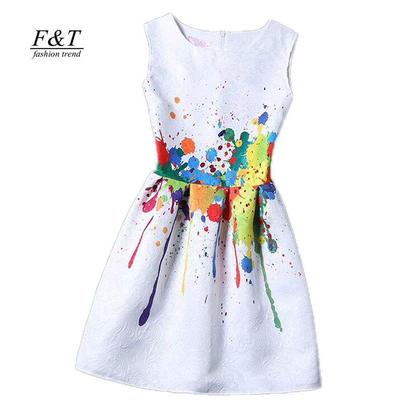 new women printed flower dress sleeveless knee length one piece dress casual slim bodycon korea college vintage dress