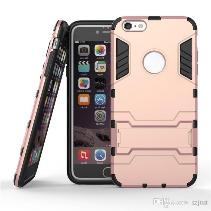 fab3b7e44a3 Fundas Moviles Baratas Para Apple IPhone 6 6S 4.7 TPU + PC Soporte ...