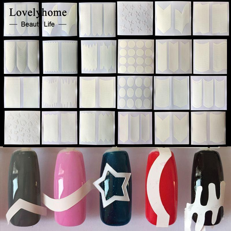 Wholesale Nails Sticker Tips Guide French Manicure Nail Art Decals ...