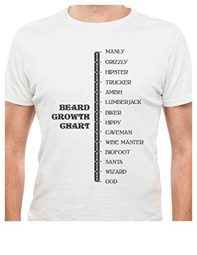 Printed Tee Shirt Design Beard Growth Chart Gift Idea Funny Manly