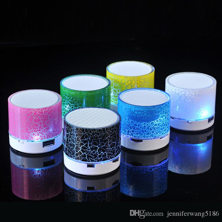 High Quality Mini portable A9 Bluetooth Speaker with LED light can insert U disc, mobile phone player with retail box