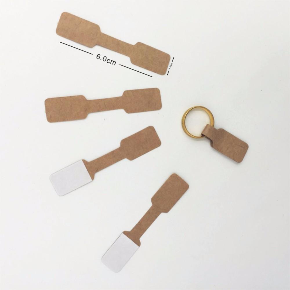 1.2x6 سنتيمتر كرافت ورقة تسميات بطاقة عرض المجوهرات الدائري ملصق شنق tag/ براون فارغة ورقة تسميات سعرها التغليف