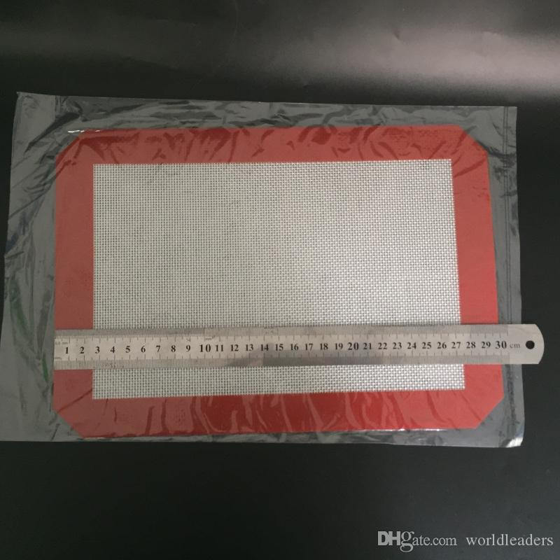 Курение Dogo Силиконовые коврики Воск с антипригарным покрытием Силиконовый коврик для сухой травы 29.5cm * 21cm OD: 19cm Пищевой коврик для выпечки Dabber Sheets Dab Pad