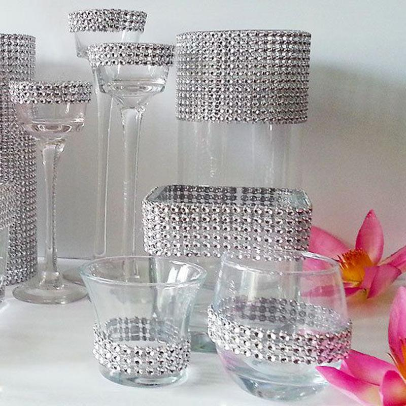 24reihen Kristall Strass Diamante Seil Kristall Band Kette Diamant ...