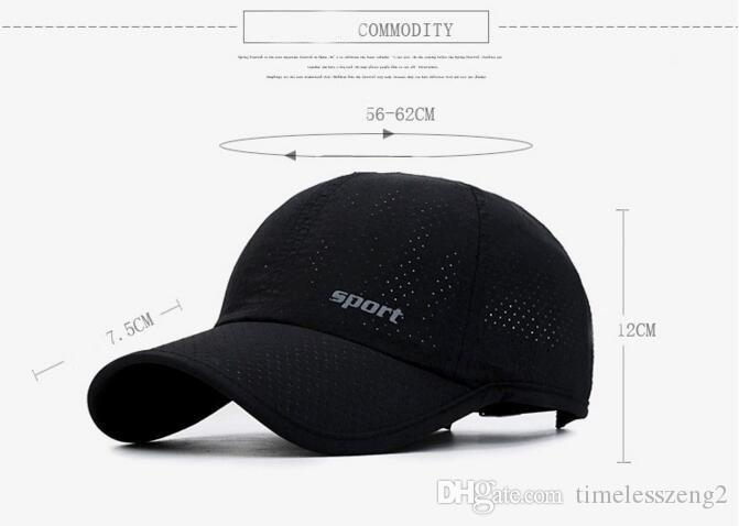 67a94f838aa Summer Snapback Quick Dry Mesh Baseball Cap Fashion Package Edge Breathable  Sun Hats Cotton Multicolor Wide Brim Hat The Game Hats Baby Caps From ...