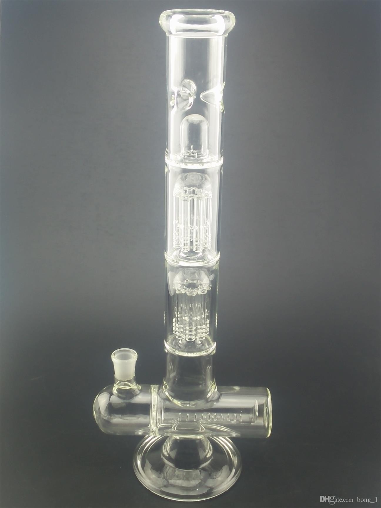 Nuove altezze 47 centimetri di vetro bong Inline perc olio di petrolio tubi di acqua fumando narghilè chiari colori chiari
