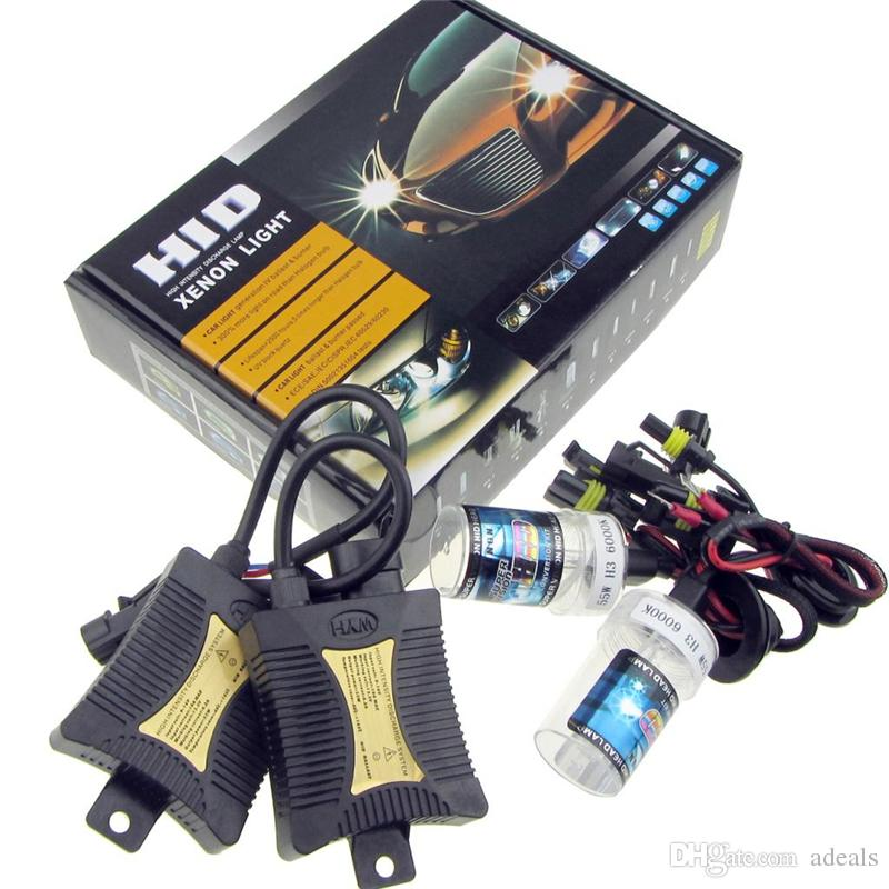 Durable 12V 55W H1 H3 H4 H7 H8 H9 H10 H11 H13 9004 9005 90066000k HID Xenon Headlight Automotive Replacement Kit Head Light