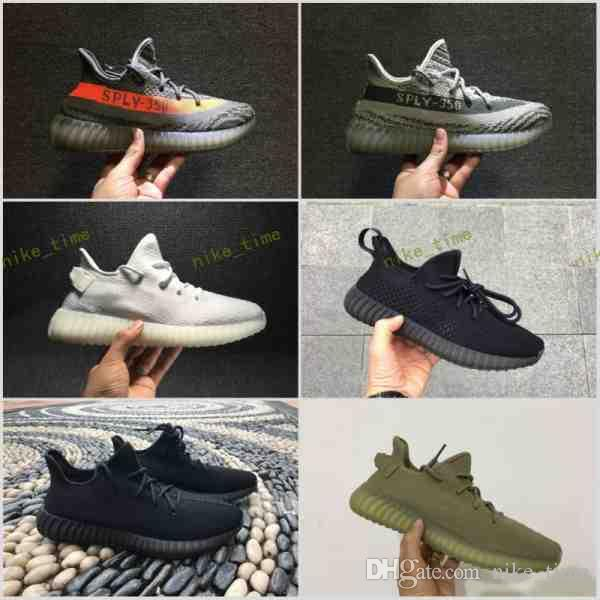 2017 350 V2 bb1826 beluga Grey Orange ,bb1829 Glow In the Dark,cp9366 Cream White,cp9652 Breds,cp9654 zebra Boost Kanye West Running Shoes
