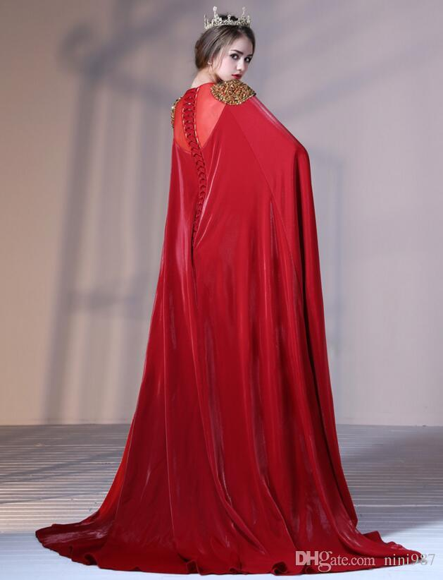 Burgundy color mermaid Long Satin Evening Dresses 2016 long sleeve Floor Length Formal Evening Dress with wrap