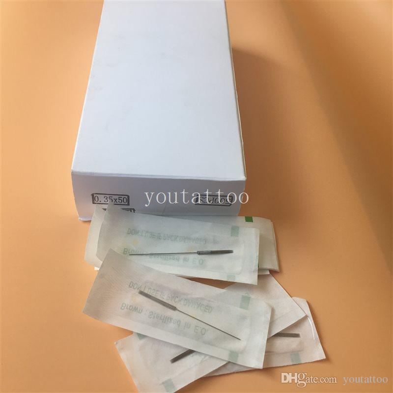 500 stücke 5F Tattoo Maschine Nadeln 0,35 * 50 MM Tattoo Maschine Nadel Für Permanent Make-Up Tattoo Maschine