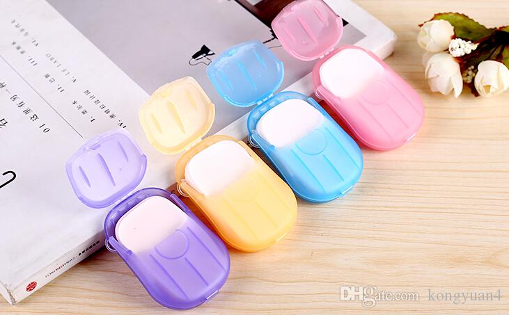 20 Sheet/Box Travel Camping Portable Soap flakes soap paper tablets Clean Paper Soap Slice washing Popular Items mix colors
