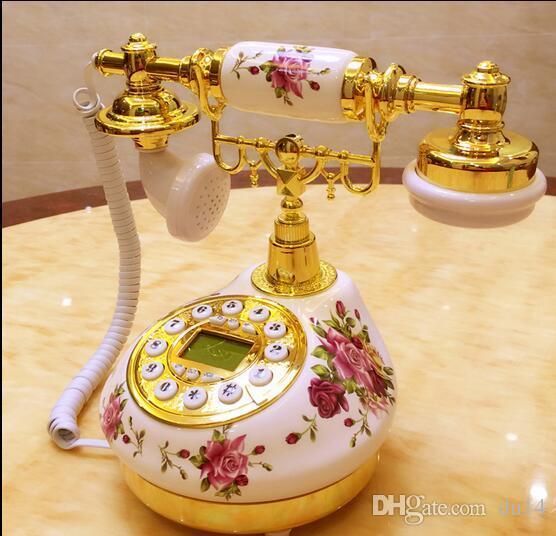 Decoration Arts crafts home landline Ceramic antique dial Antique/process/ Telephone Model European home