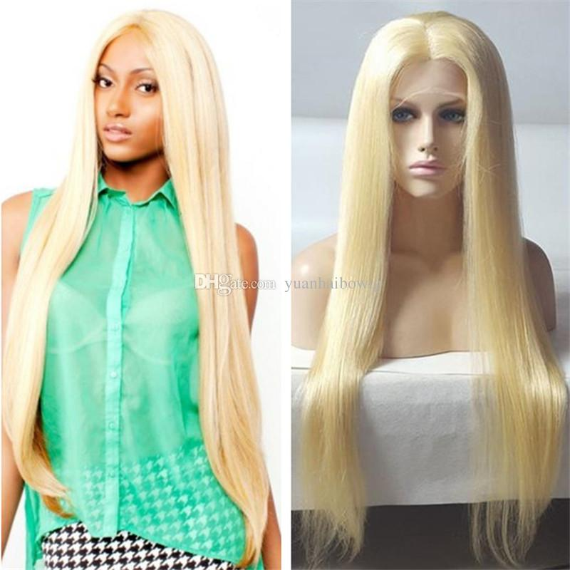 Top Quality 613 Color Silky Straight Malaysian Virgin Hair 26inch Blonde Human Hair Wig Free Shipping