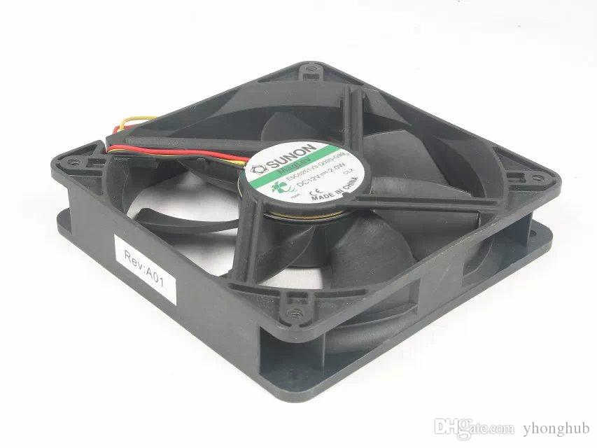 SUNON E5C0251V3-Q020-G99 DC 12V 2.0W 3 hilos 3 pines conector 80mm 120x120x25mm Server Square fan