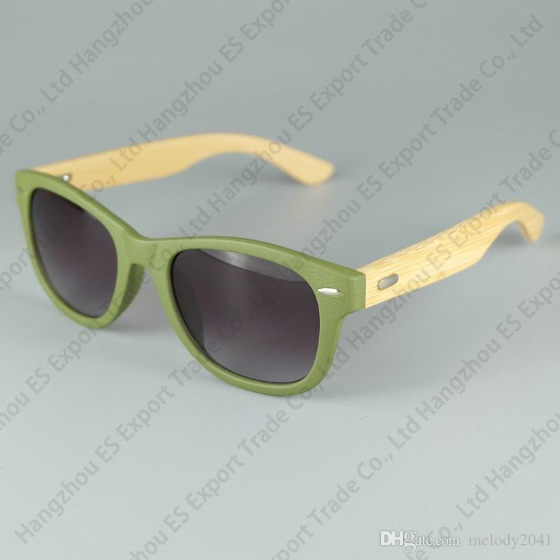 LOGO Kazınmış Mevcut Ahşap Güneş Gözlüğü Tasarımcı Doğal Bambu Sunglass Gözlük Gözlük Tarzı El Yapımı Ahşap Tapınak Plastik Çerçeve 8 Renk