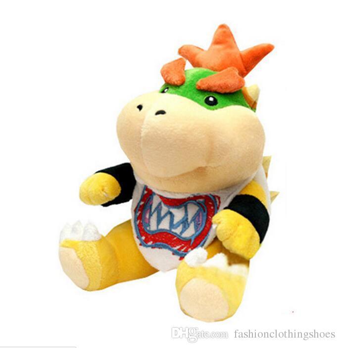 18cm Super Mario Bros Bowser JR Plush Soft Stuffed Animals Doll Toy for Kids Girls Boys Birthday Gift Xmas Gift