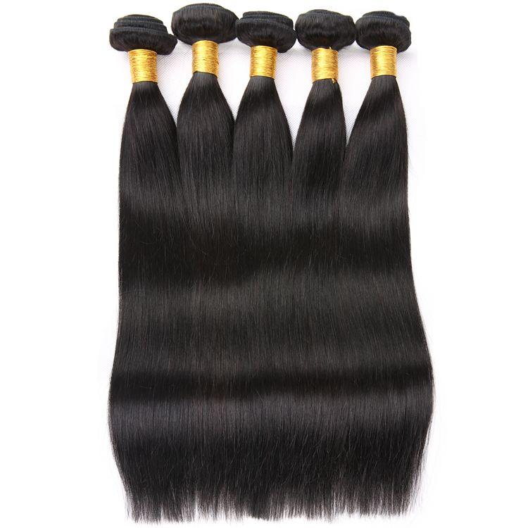 8A grade unprocessed black color Peruvian Straight Hair Weaving Non-remy Natural Black Human Hair Bundles Mixed Length 8inch-26inch