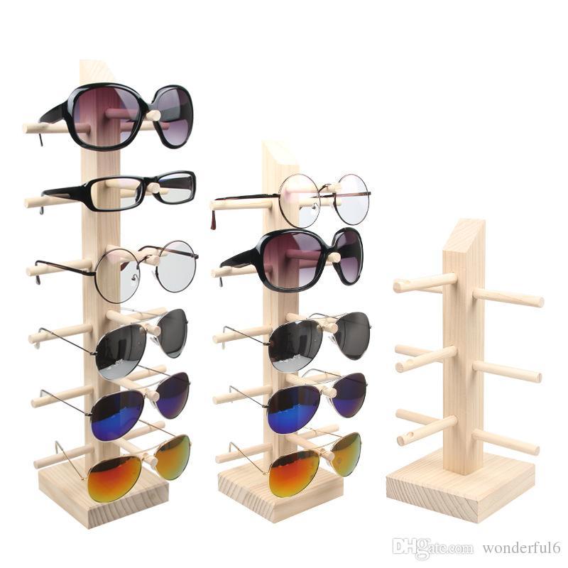 новый деревянный солнцезащитные очки держатель очки стойку мужчины женщины солнцезащитные очки дисплей полка бытовой организатор очки рамка контейнер