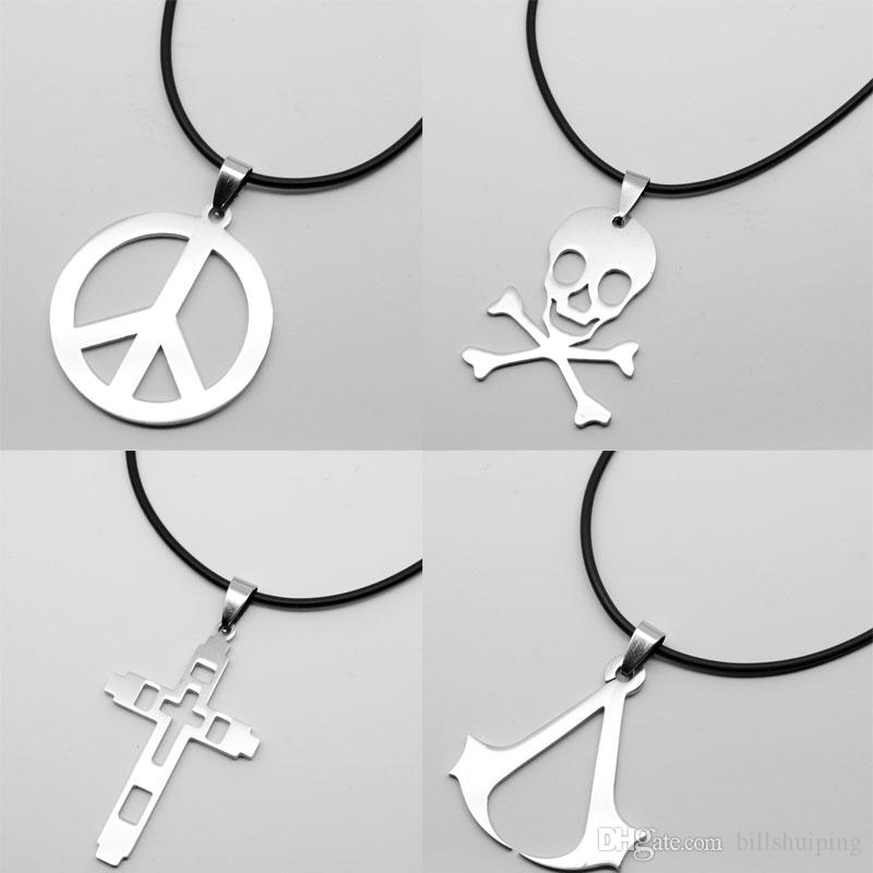 Wholesale hot new hippie stainless steel jewelry charms silver wholesale hot new hippie stainless steel jewelry charms silver peace sign cross skull pendant necklace for men pendants for necklace pendant from mozeypictures Image collections