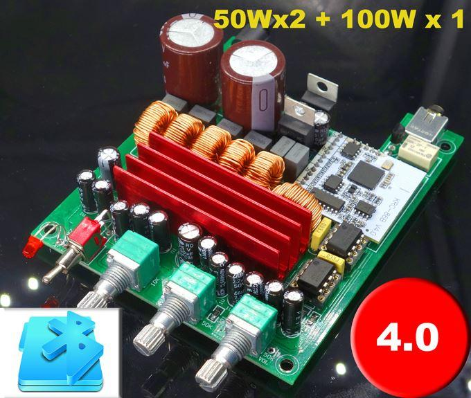 Freeshipping New Breeze Audio TPA3116 Hifi 2 1 50W*2 100W*1 Subwoofer  Bluetooth 4 0 Stereo Digital Audio Power Amplifier Board