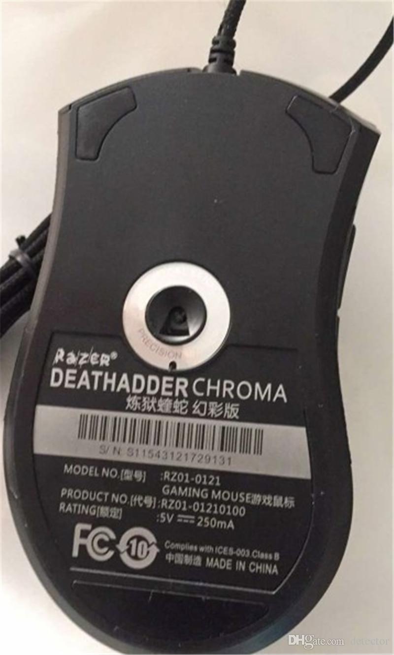 Razer Deathadder Chroma USB con cable Óptico Ratón para juegos de computadora 10000 ppp Sensor óptico Ratón Razer Ratón Deathadder Ratones para juegos