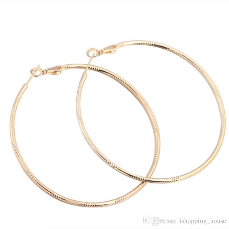 파티 웨딩에 대한 여자 여성을위한 여성 18K 옐로우 골드 도금 귀걸이 농구 슬림 큰 귀 농구 Earings ER-930