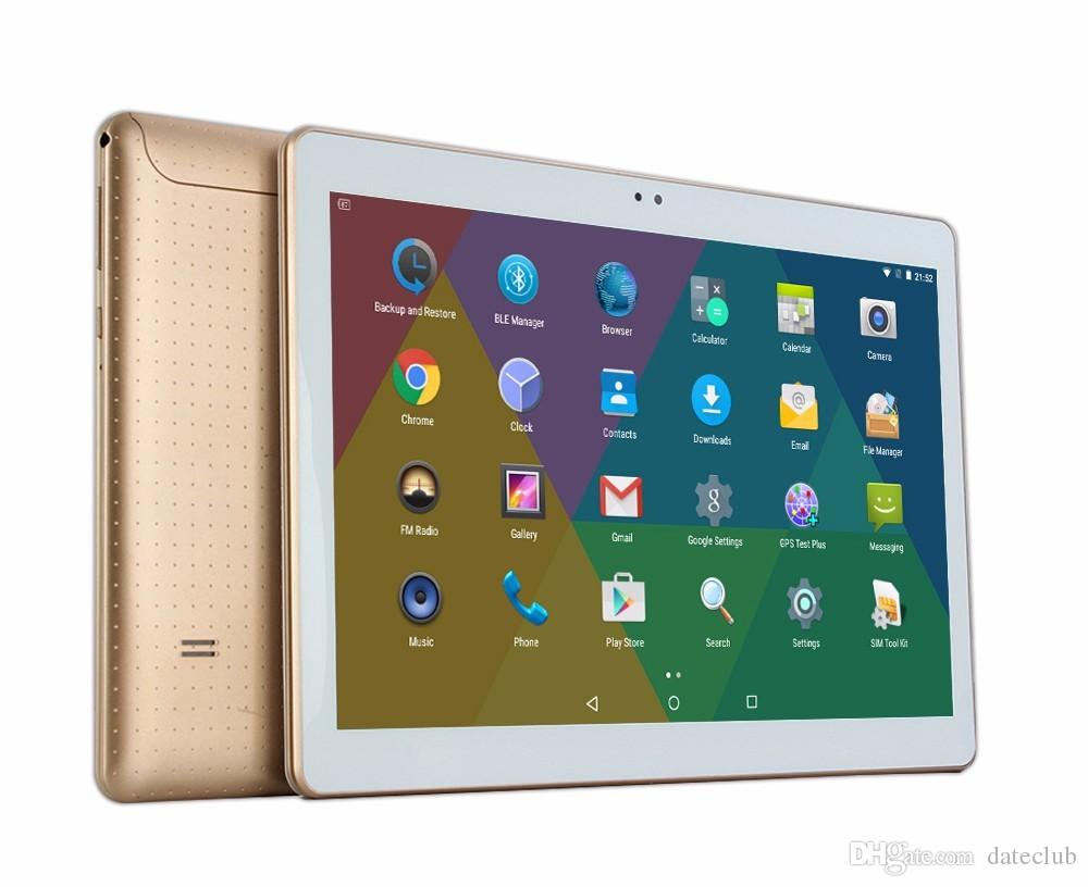 10.1 pollici Octa CoreTablets pc 3G Phone Chiamando 4GB 32GB Dual Camera 5.0MP IPS GPS Wifi tablet Android